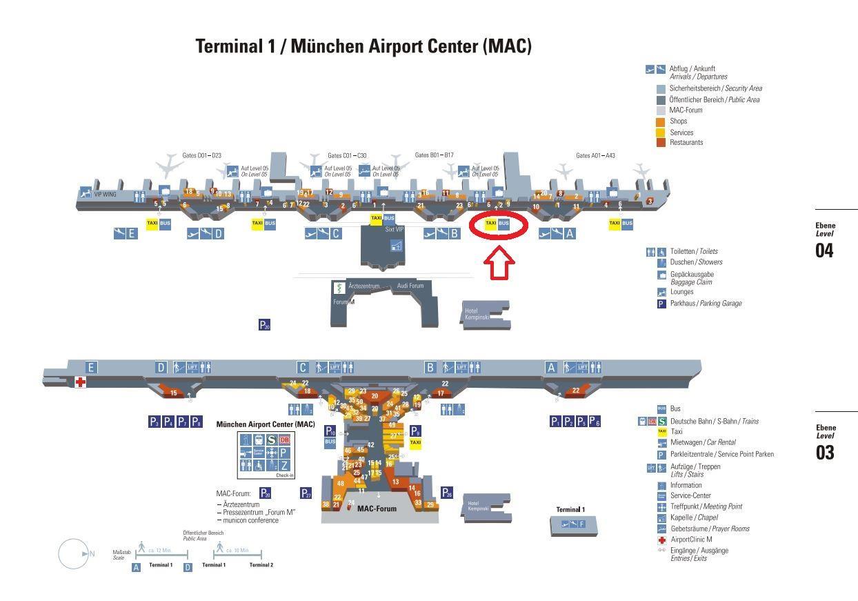 munich airport terminal 1 map Munich Airport Terminal 1 Map Map Of Munich Airport Terminal 1 munich airport terminal 1 map