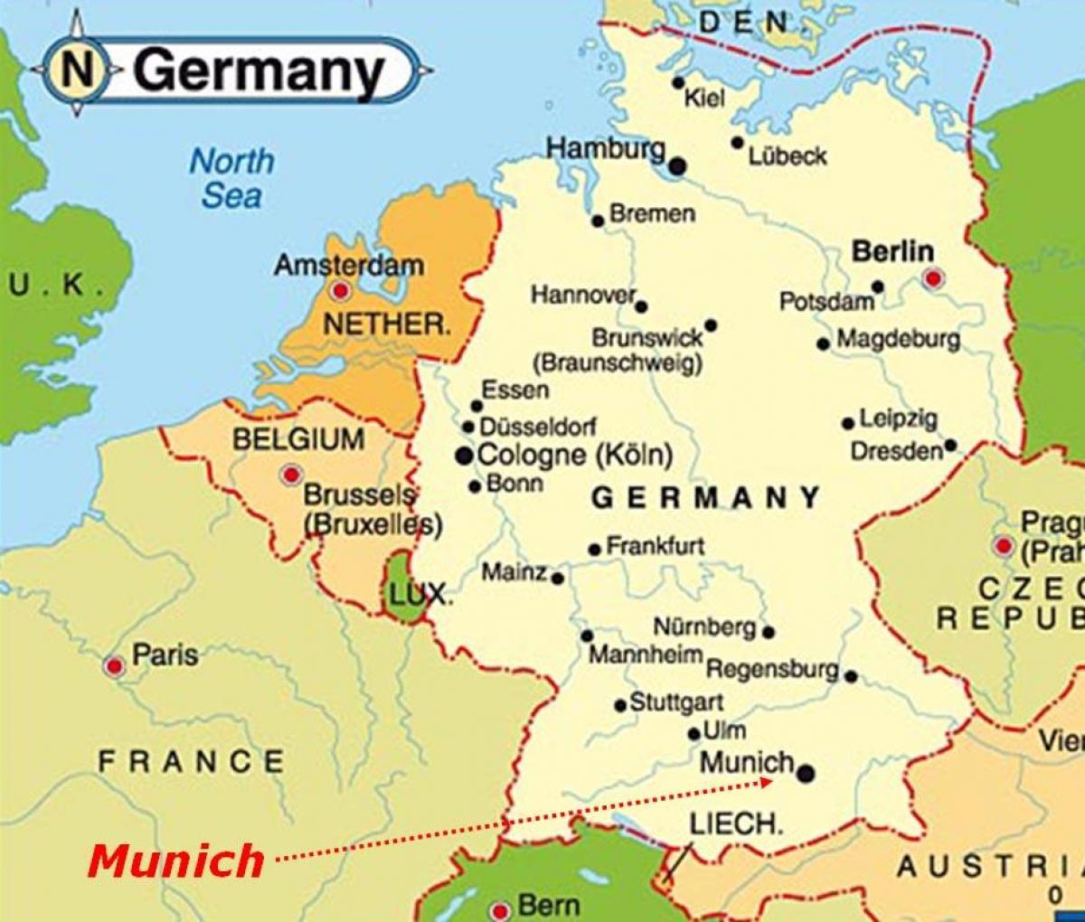 Munich Map Europe Map Of Munich Europe Bavaria Germany